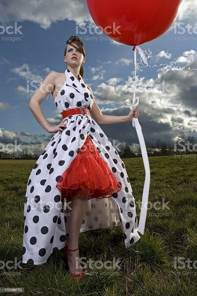 Polka Dot Dress Series royalty-free stock photo