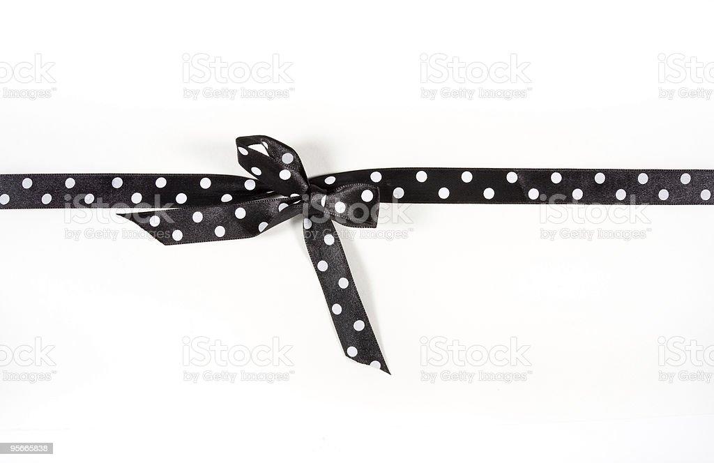 Polka Dot Gift Ribbon stock photo