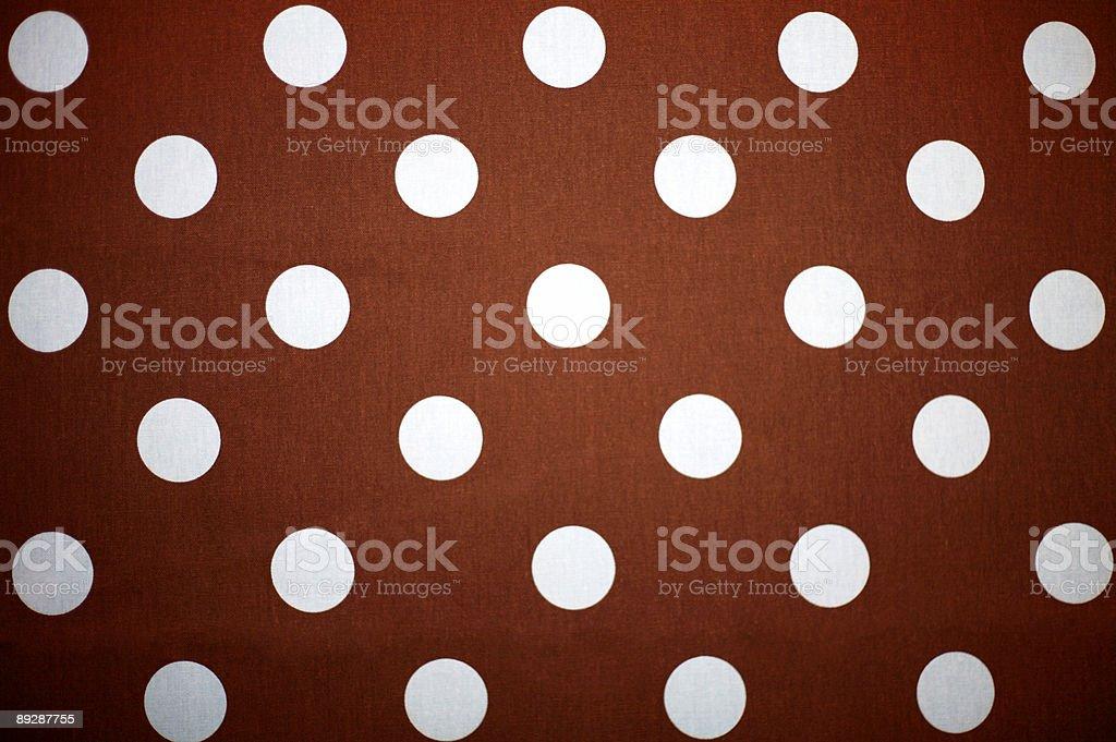 polka dot material - brown and blue royalty-free stock photo