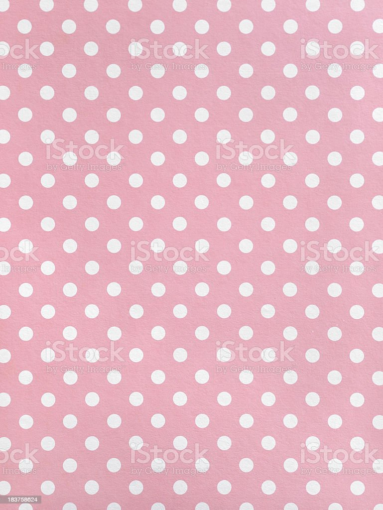 Polka dot Paper stock photo