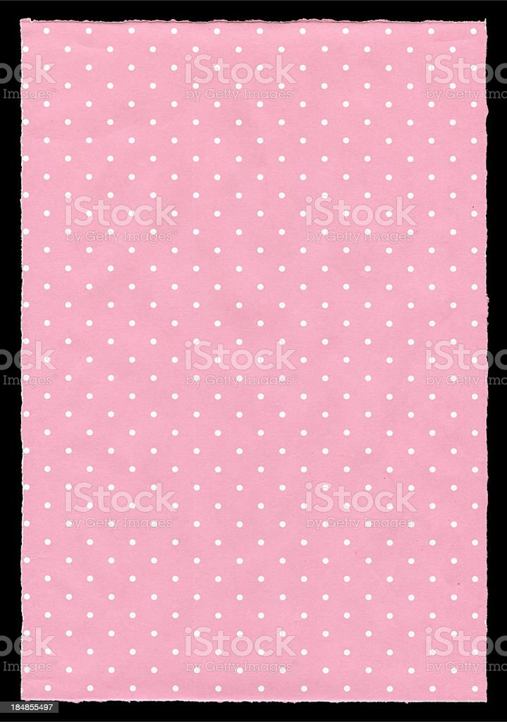 Polka dot Paper textured background royalty-free stock photo