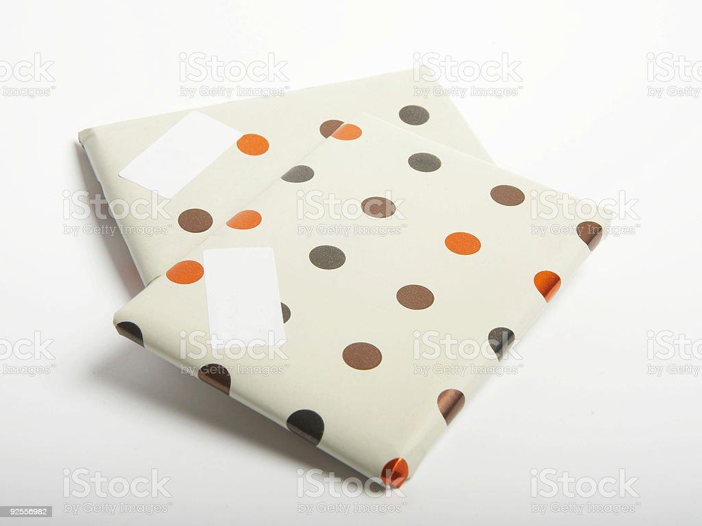 polka dot presents royalty-free stock photo