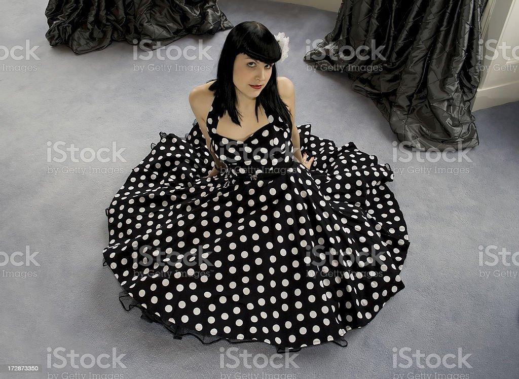 Polka dot princess royalty-free stock photo