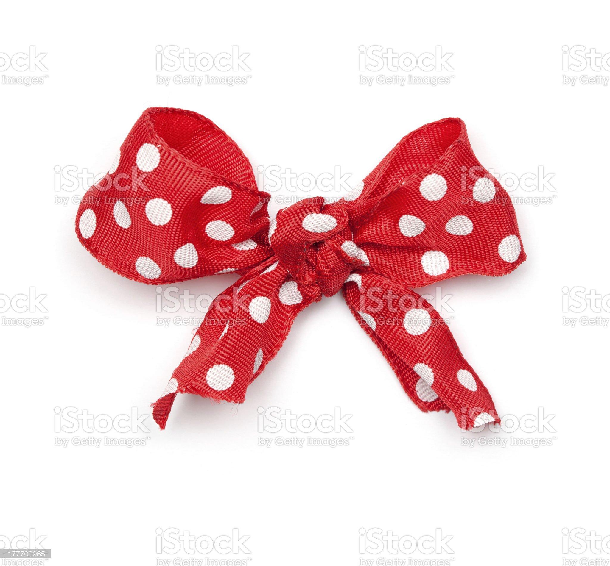 Polka Dot Ribbon Tie royalty-free stock photo