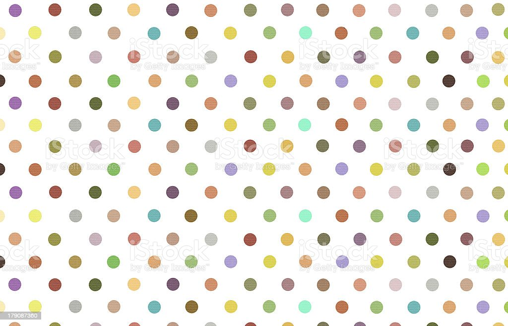 polka dot with variety color pastel background royalty-free stock photo
