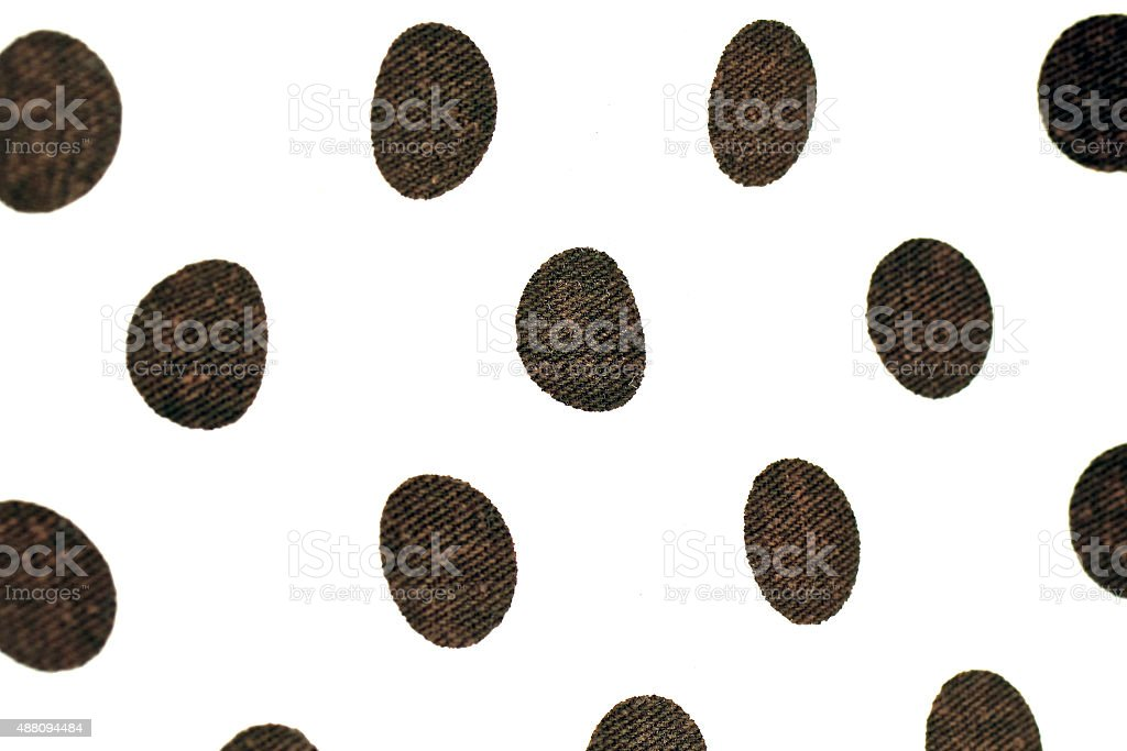 Polka dots background fabric in black and white stock photo