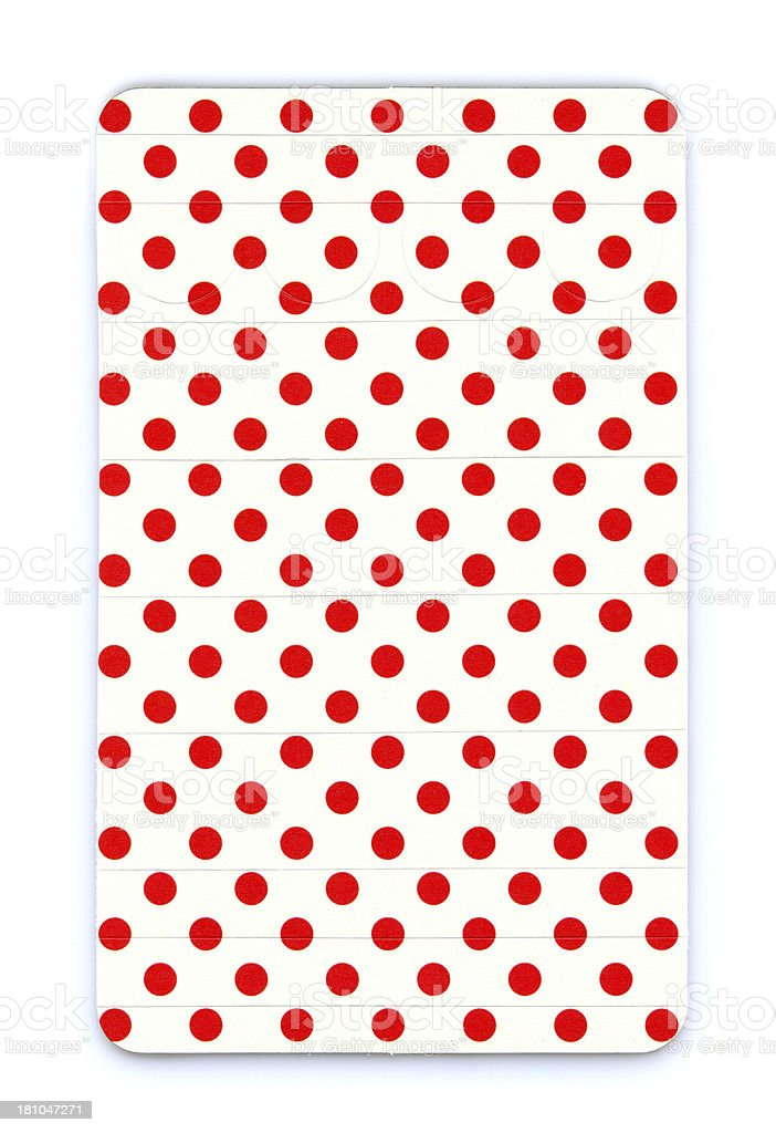 Polka dots card paper textured background isolated royalty-free stock photo