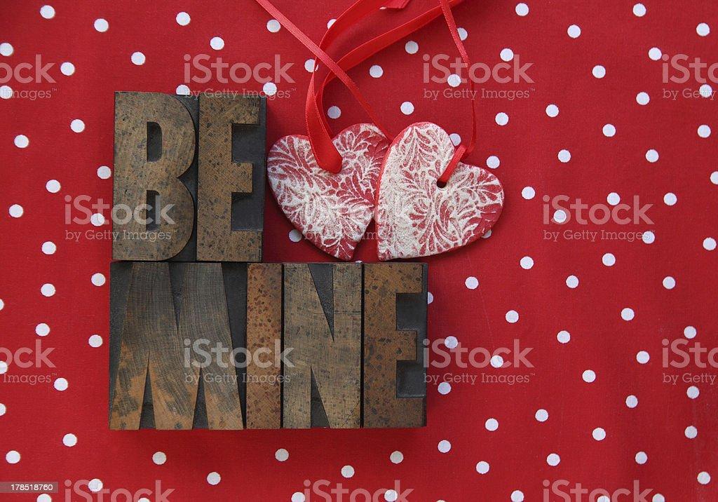 polka dots, hearts, be mine royalty-free stock photo