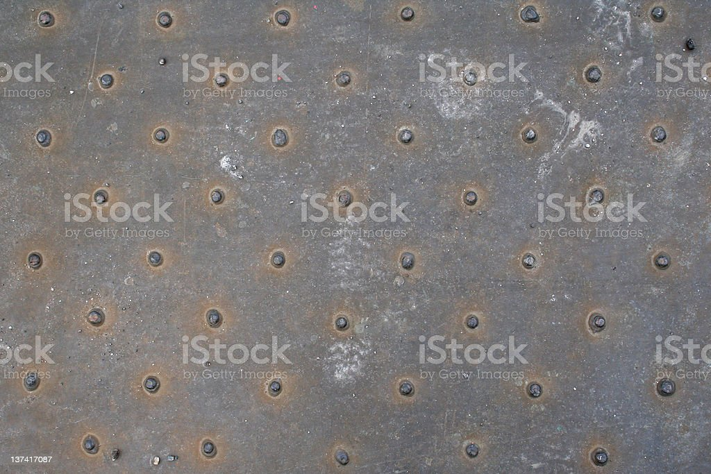 Polka dots in metal stock photo