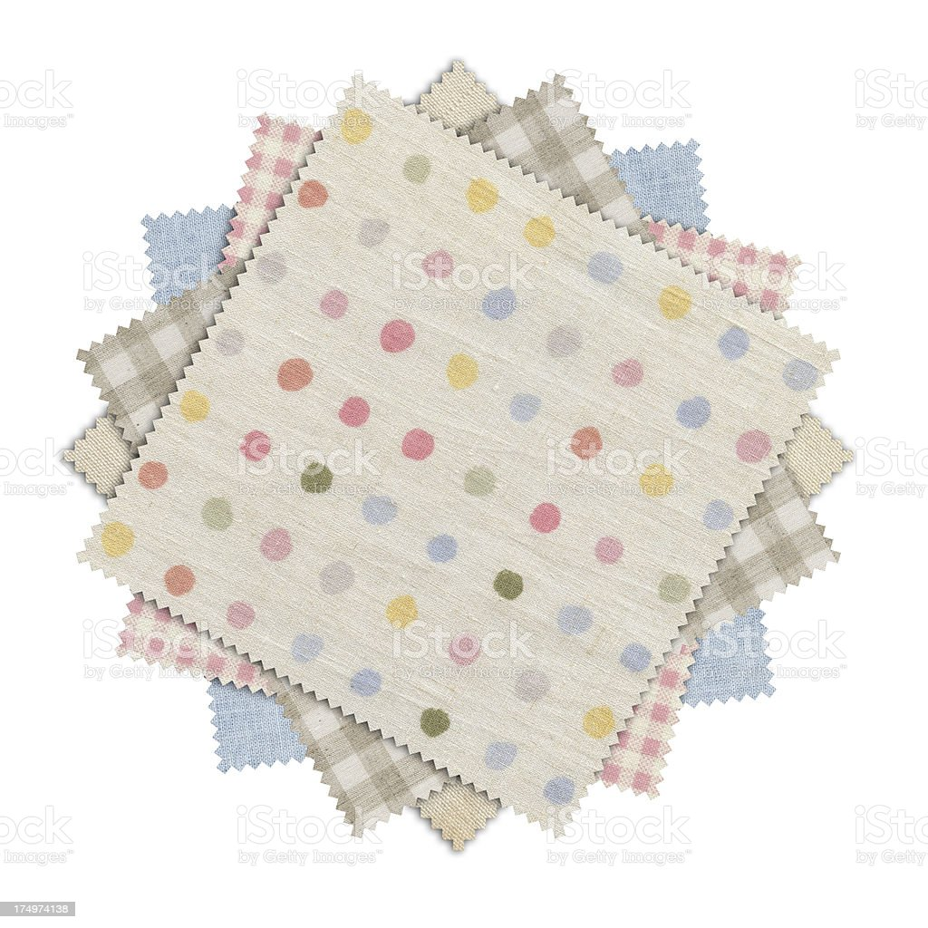 Polka-Dot Combine Pattern Fabric Swatch (Clipping Path) royalty-free stock photo
