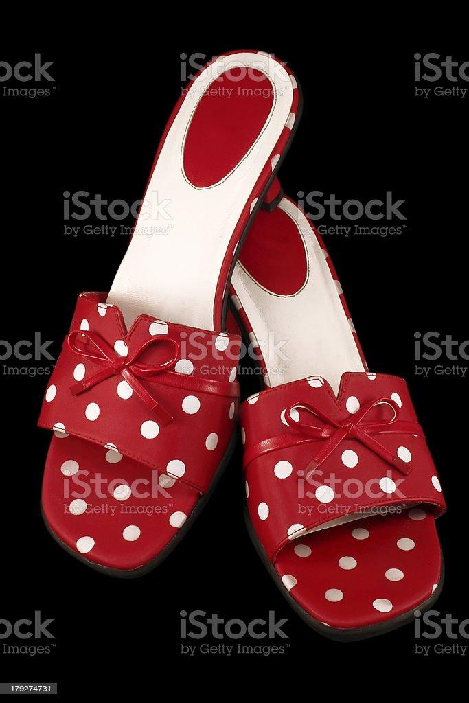 Polka-dot Shoes 1 royalty-free stock photo