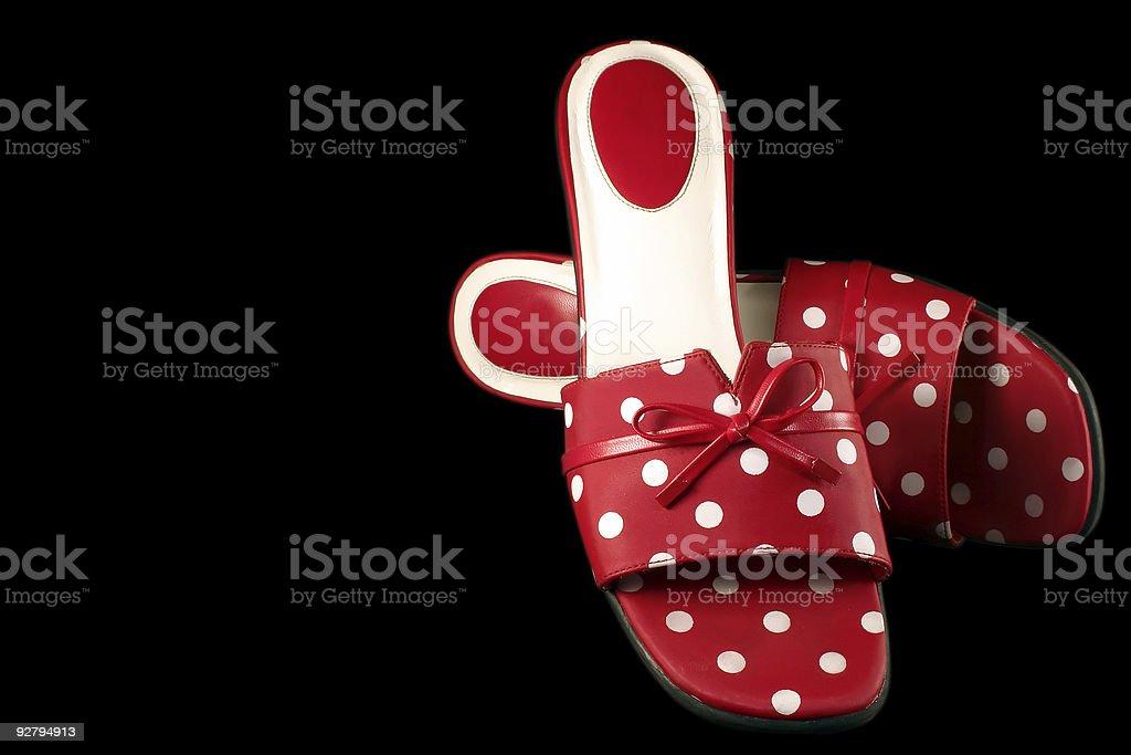 Polka-dot Shoes 2 royalty-free stock photo
