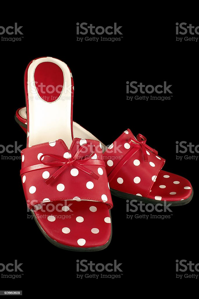 Polka-dot Shoes 3 royalty-free stock photo