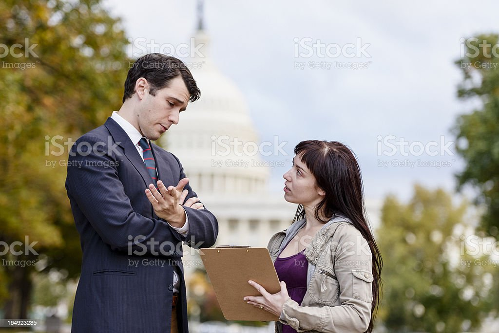 Poll Taker/Political Canvasser stock photo