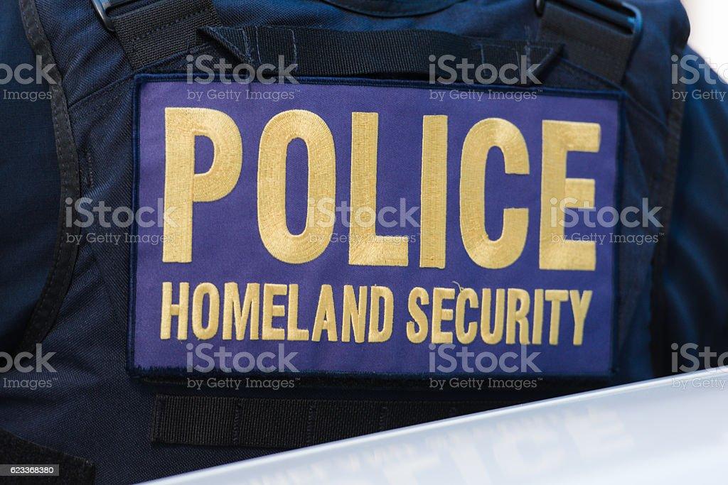 Pollce Homeland Security stock photo