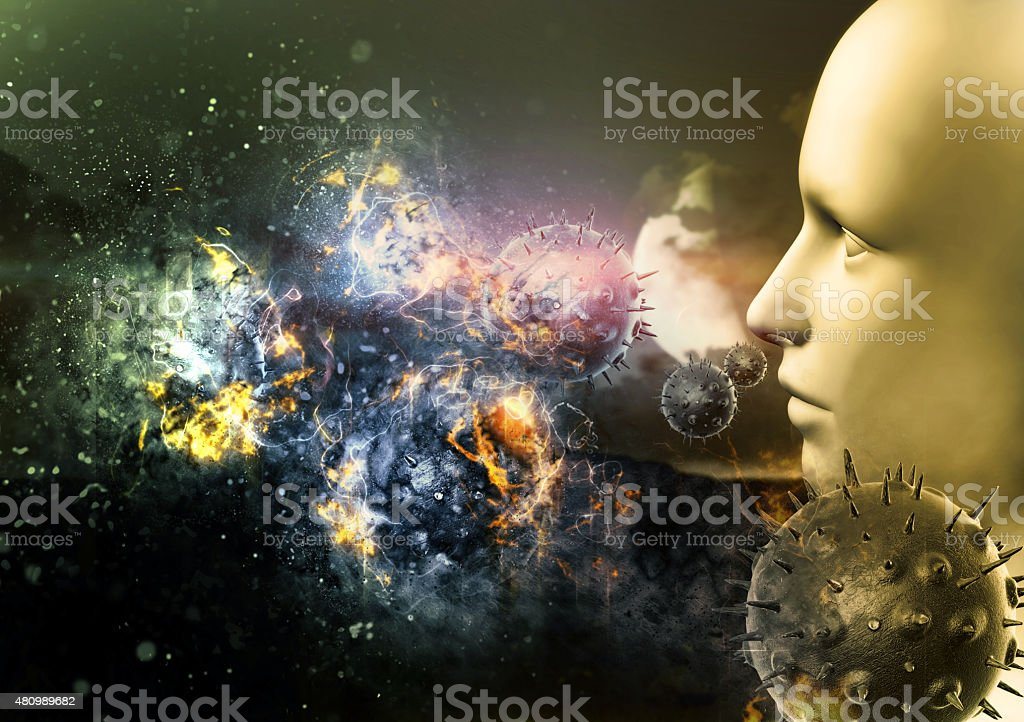 Pollen allergy concept stock photo