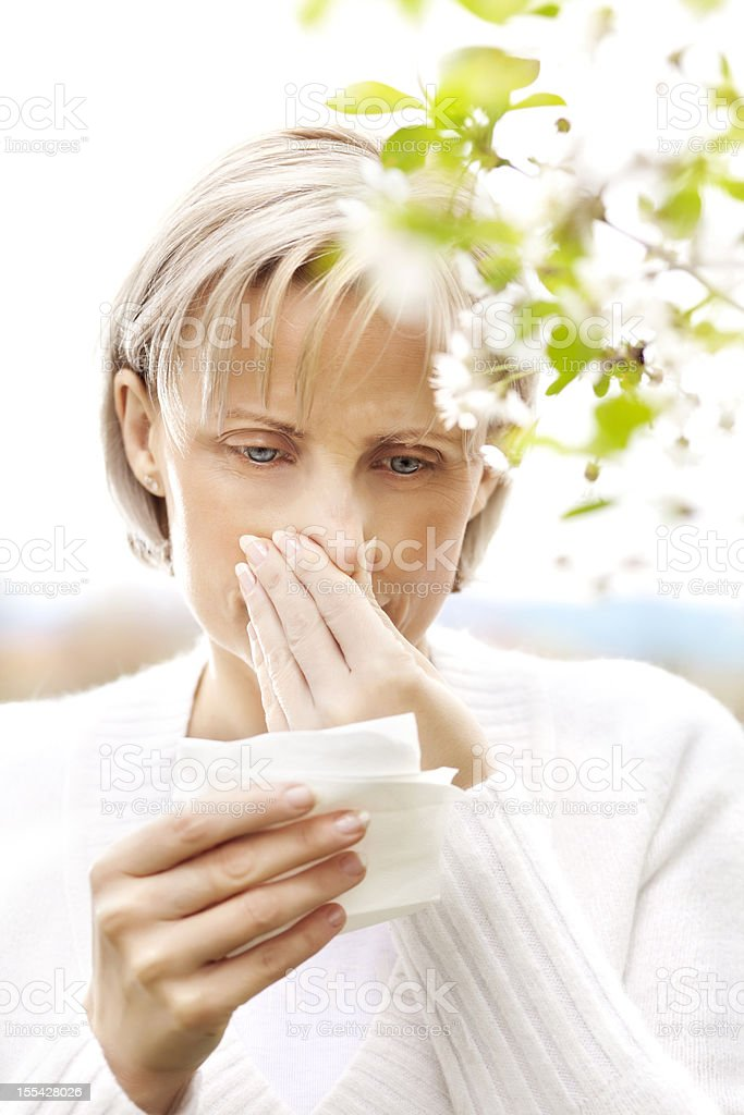Pollen allergy royalty-free stock photo