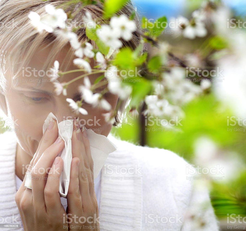 Pollen allergy stock photo