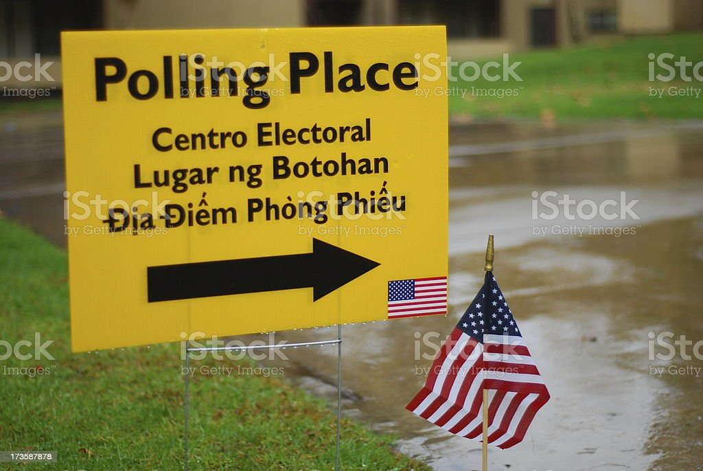 Polling Place Sign royalty-free stock photo