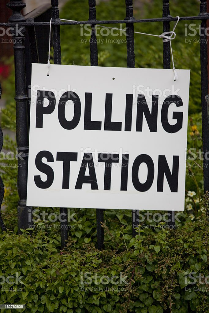 Polling station royalty-free stock photo