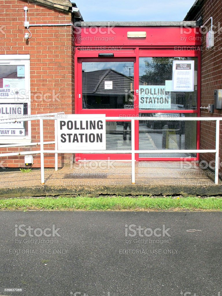 Polling Station. stock photo