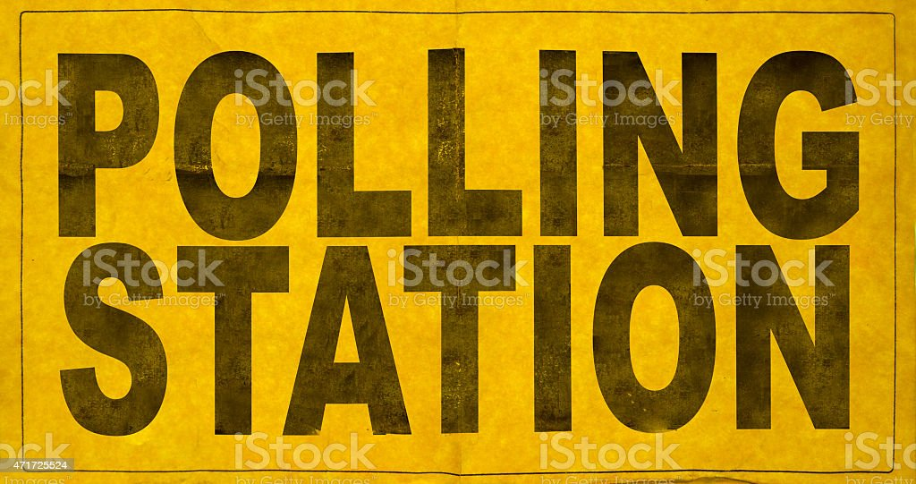 Polling Station Sign stock photo