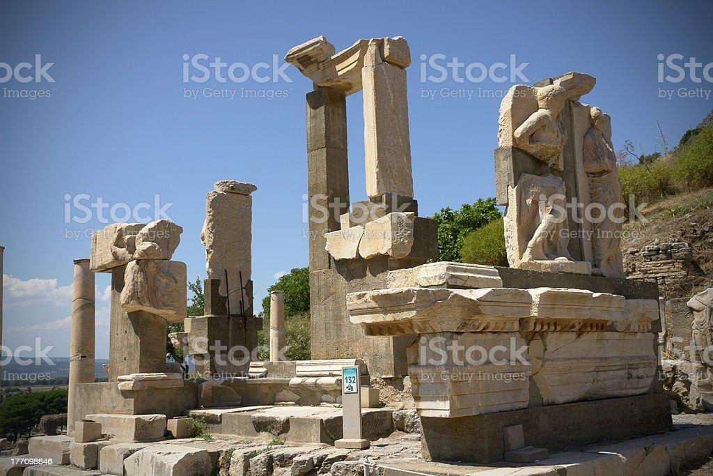 Pollio Fountain Ephesus royalty-free stock photo