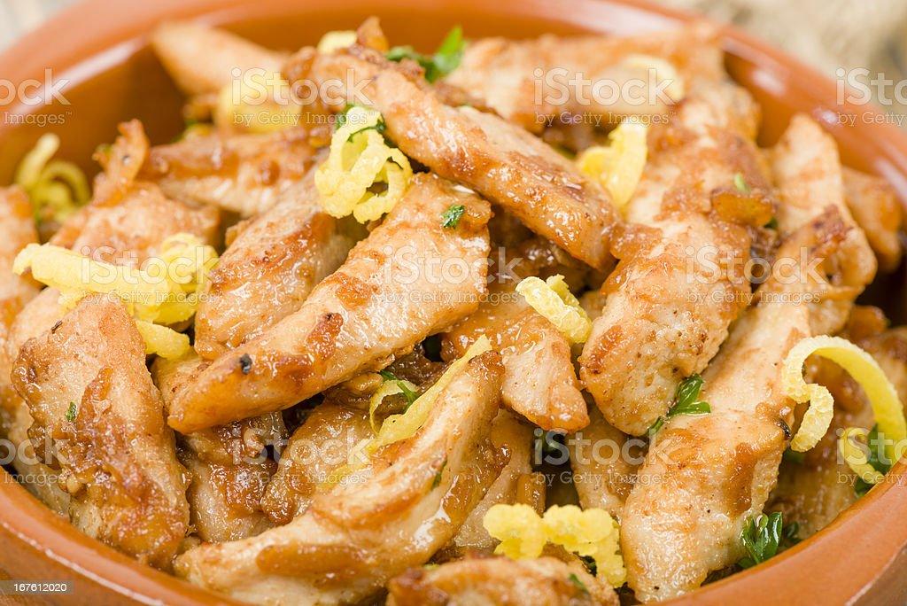 Pollo al Limon con Ajo royalty-free stock photo