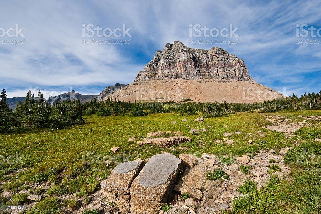 Pollock Mountain from Logan Pass royalty-free stock photo
