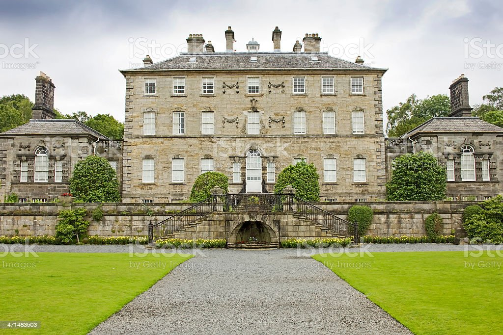 Pollok House Grand Entrance stock photo