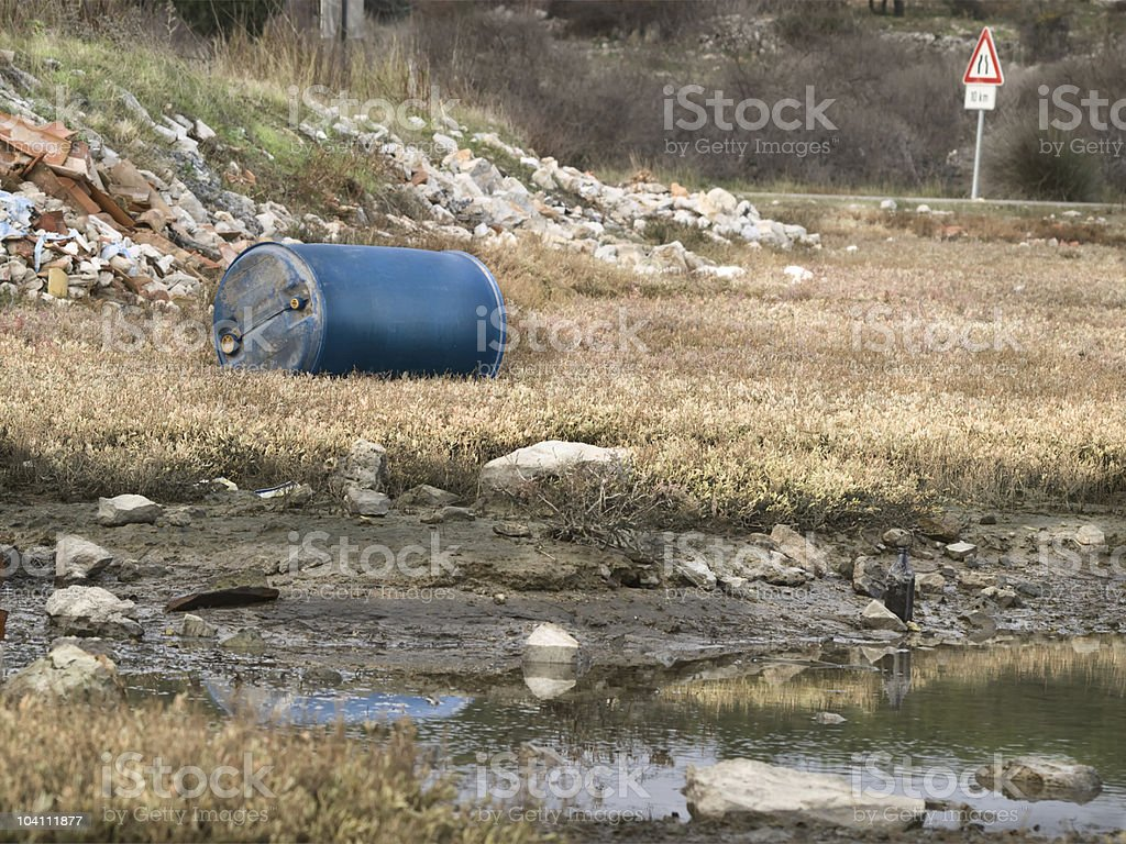 Polluted nature stock photo