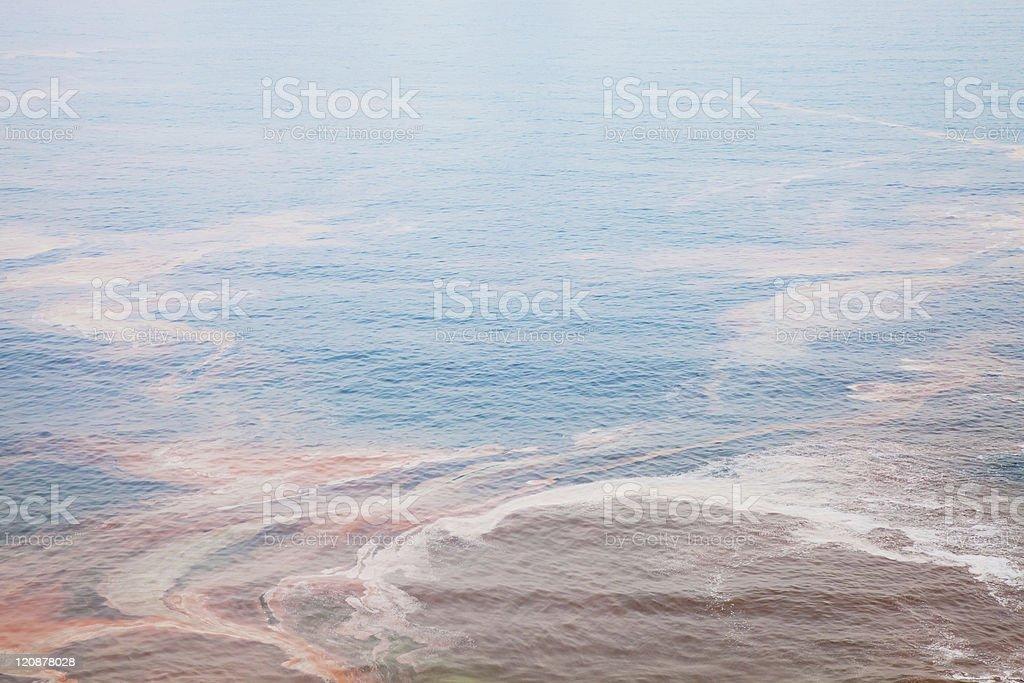 Contaminado al mar foto de stock libre de derechos