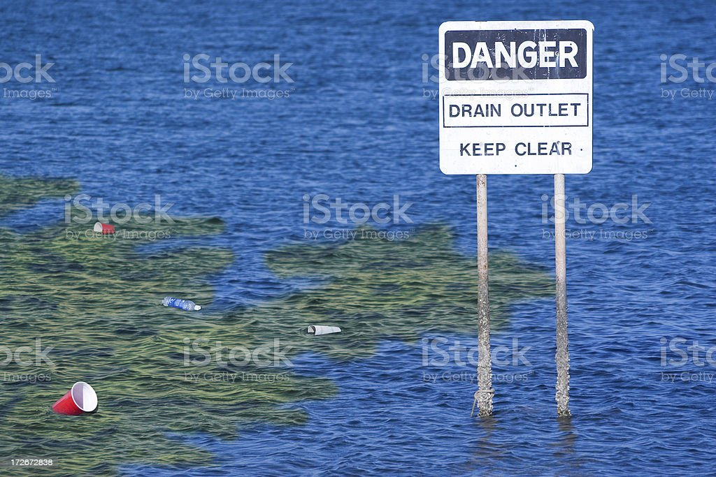 Polluted Oceans stock photo