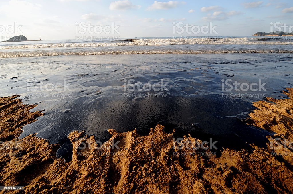Polluted Sea stock photo