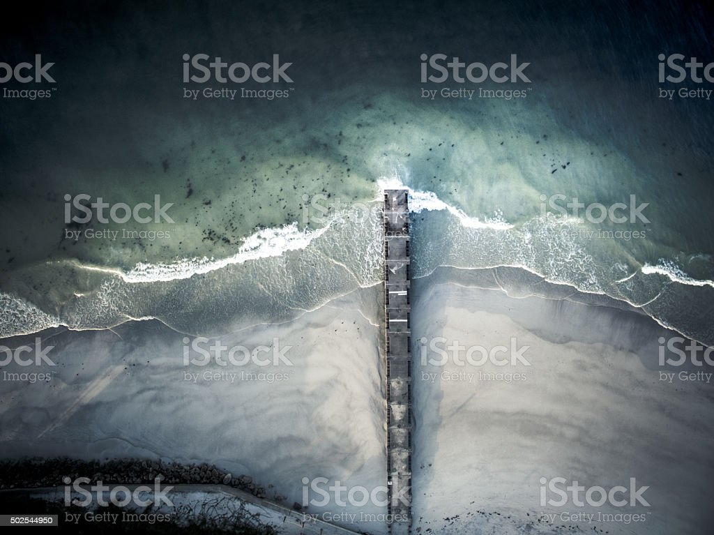 Polluted seas stock photo