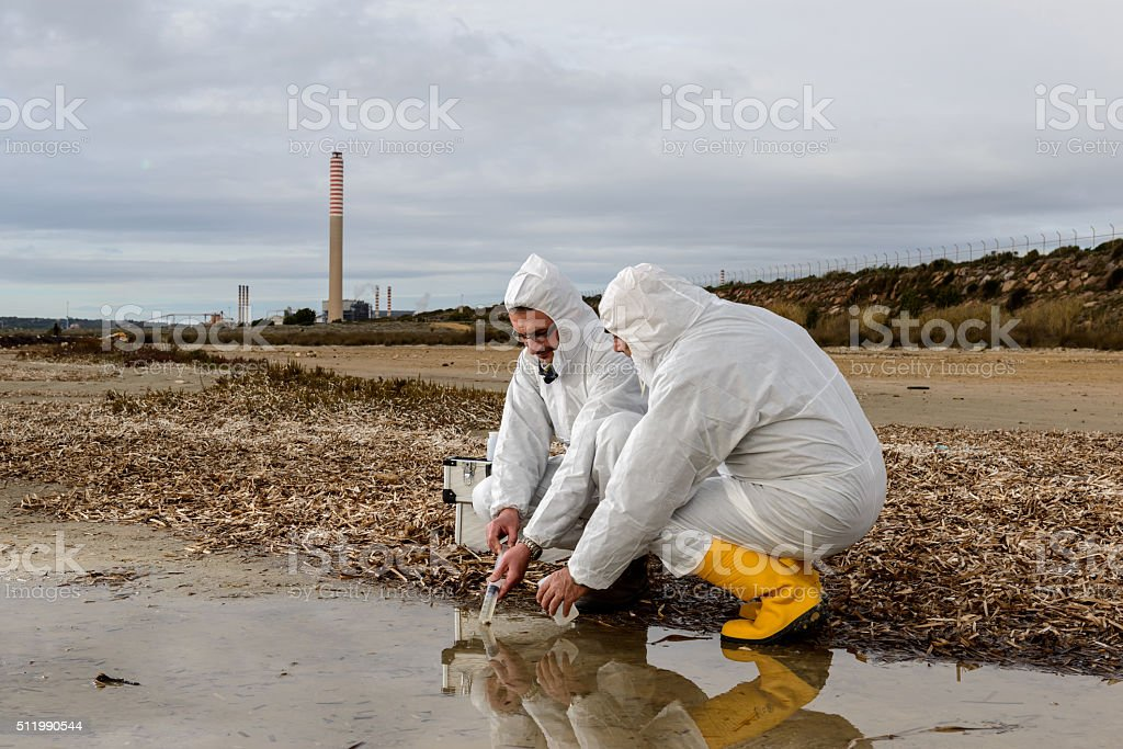 Polluted Water Analysis stock photo