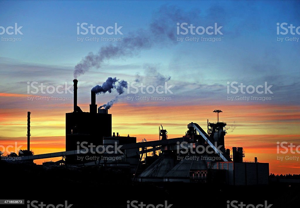 Polluting factory royalty-free stock photo
