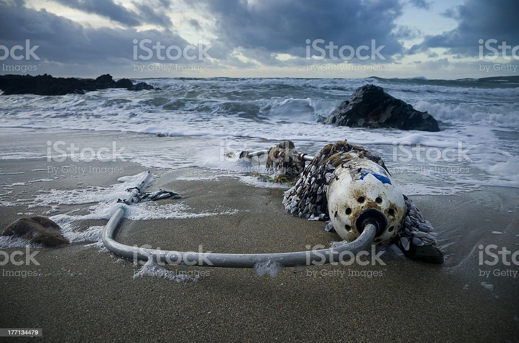Polluting the Oceans royalty-free stock photo