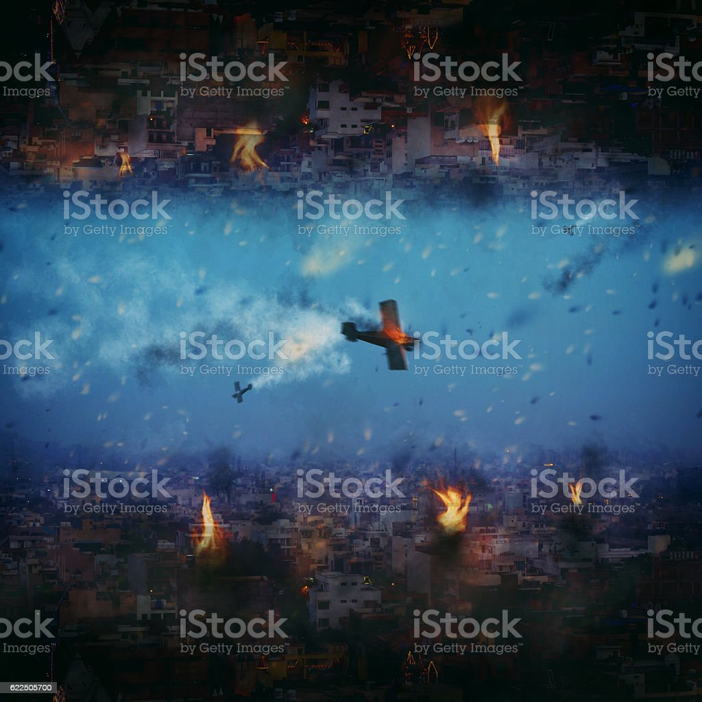 Pollution aftermath apocalypse New Delhi City India 2020 stock photo