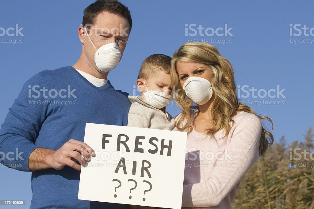 pollution and air quality concpet stock photo