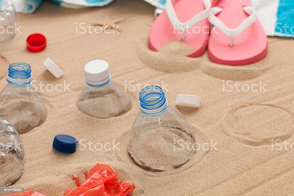 Pollution and litter problems. stock photo