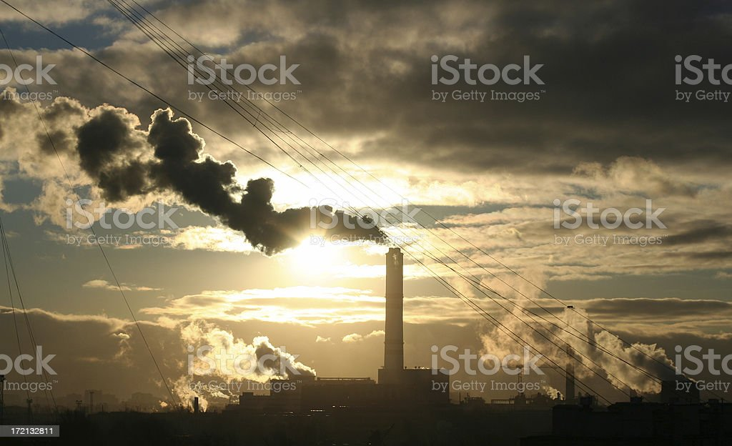 Pollution center royalty-free stock photo