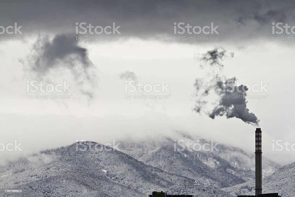 Pollution climate change royalty-free stock photo