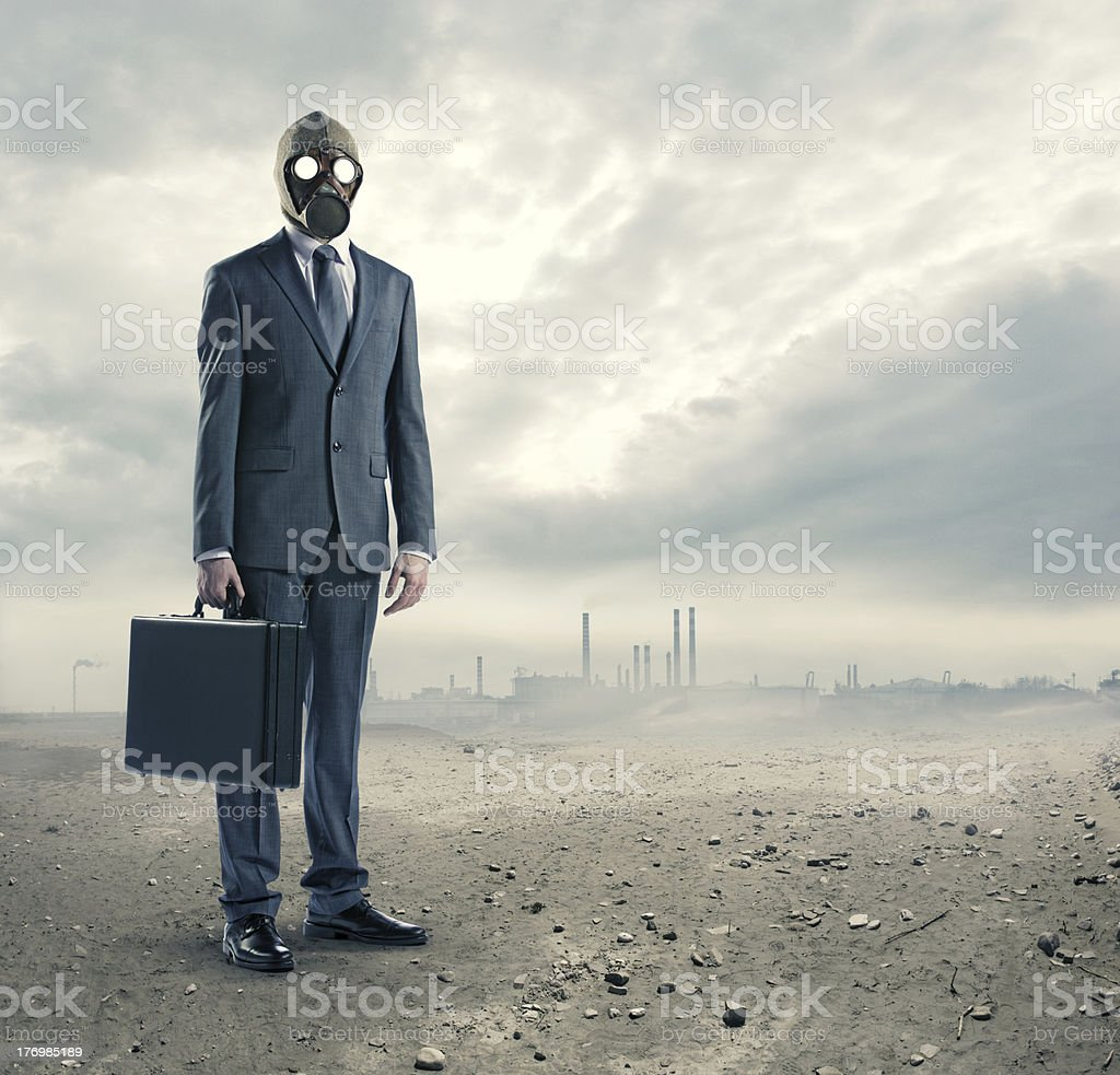 pollution concept stock photo
