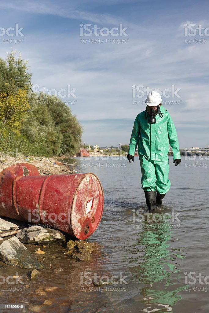 Pollution control official royalty-free stock photo