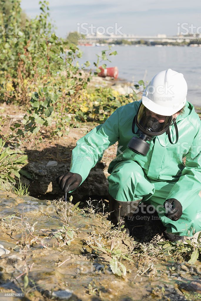 Pollution control royalty-free stock photo