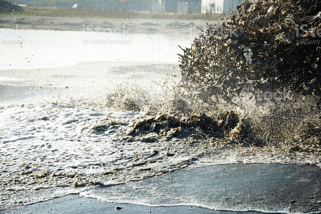 Pollution destroys our environment stock photo