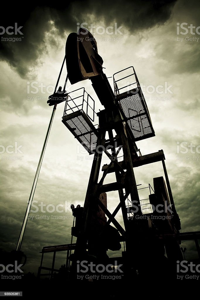 Pollution from fossil fuel and global warming stock photo