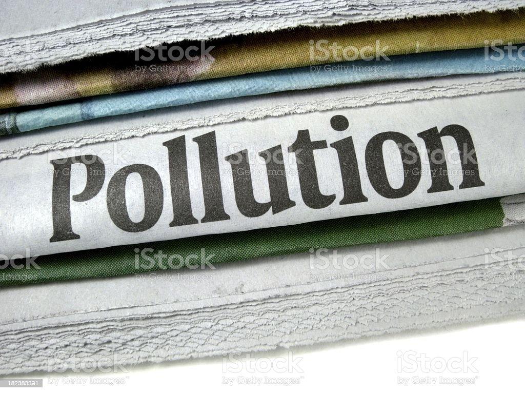 Pollution Headline stock photo