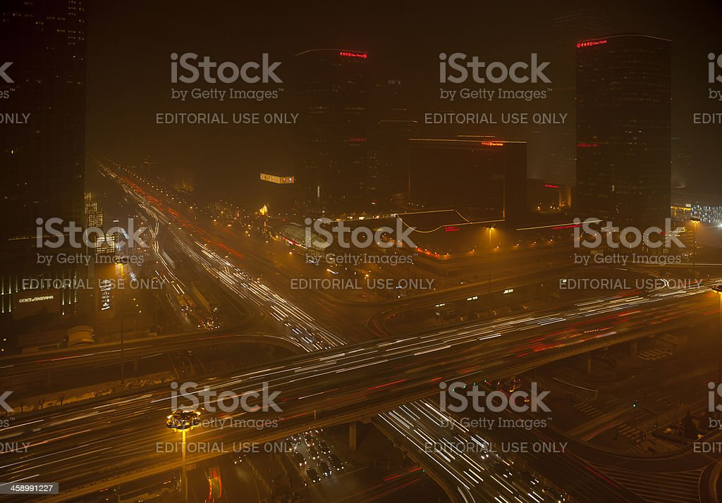 pollution in beijing royalty-free stock photo
